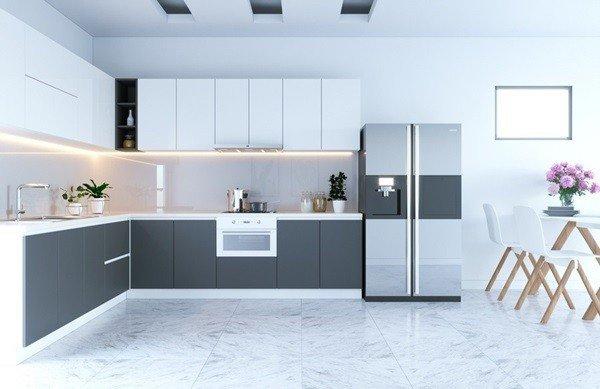 Mẫu tủ bếp phủ acrylic đẹp