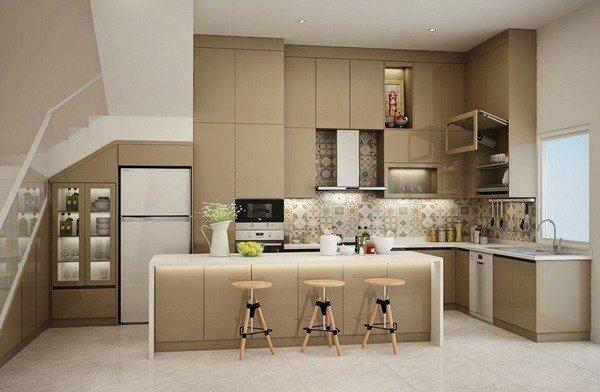 Tủ bếp acrylic đẹp hiện đại, mẫu mã sang trọng