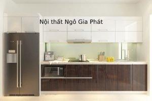 Tủ Kệ Bếp Bằng Gỗ Acrylic Hiện đại TB034