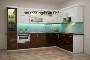 Tủ Kệ Bếp Hiện đại Gỗ Acrylic TB037