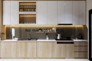 Tủ Bếp Gỗ Acrylic TB039