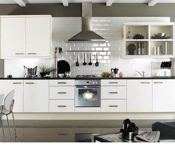 Mẫu tủ bếp treo tường đang được rất nhiều người yêu thích