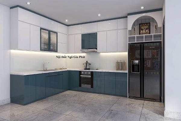 Thiết kế thi công tủ bếp acrylic tại hồ chí minh