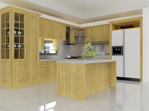 Những mẫu tủ bếp gỗ sồi trắng đẹp-5