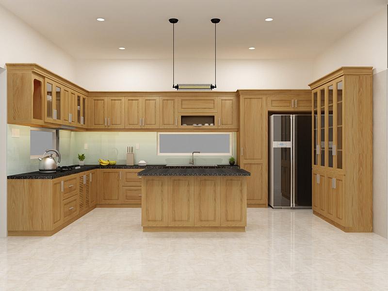 Những mẫu tủ bếp gỗ sồi trắng đẹp-6