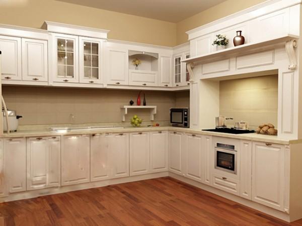 Những mẫu tủ bếp gỗ sồi trắng đẹp - 1