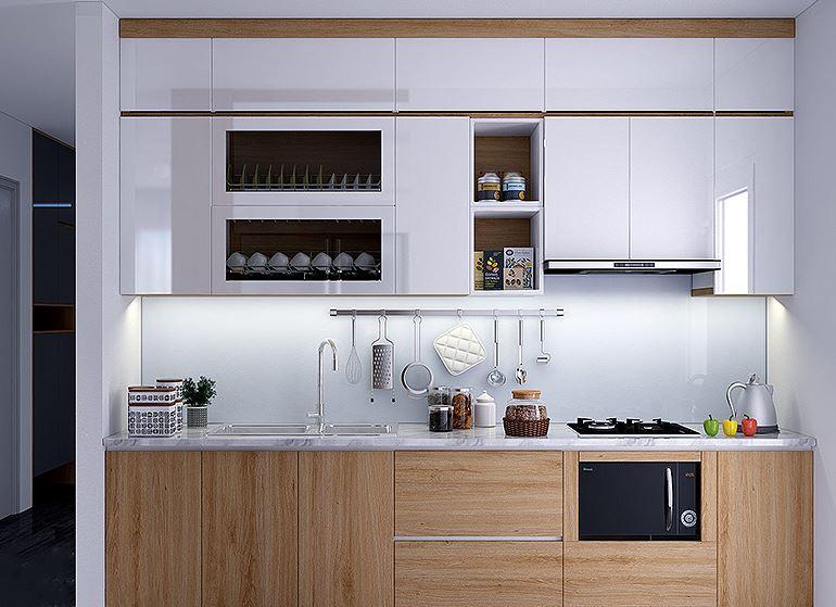 Những mẫu tủ bếp gỗ sồi trắng đẹp-10