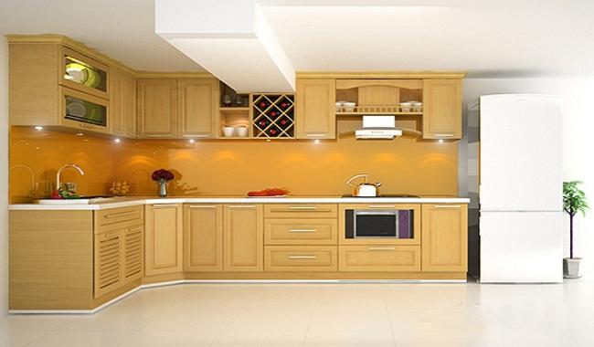 Những mẫu tủ bếp gỗ sồi trắng đẹp - 2