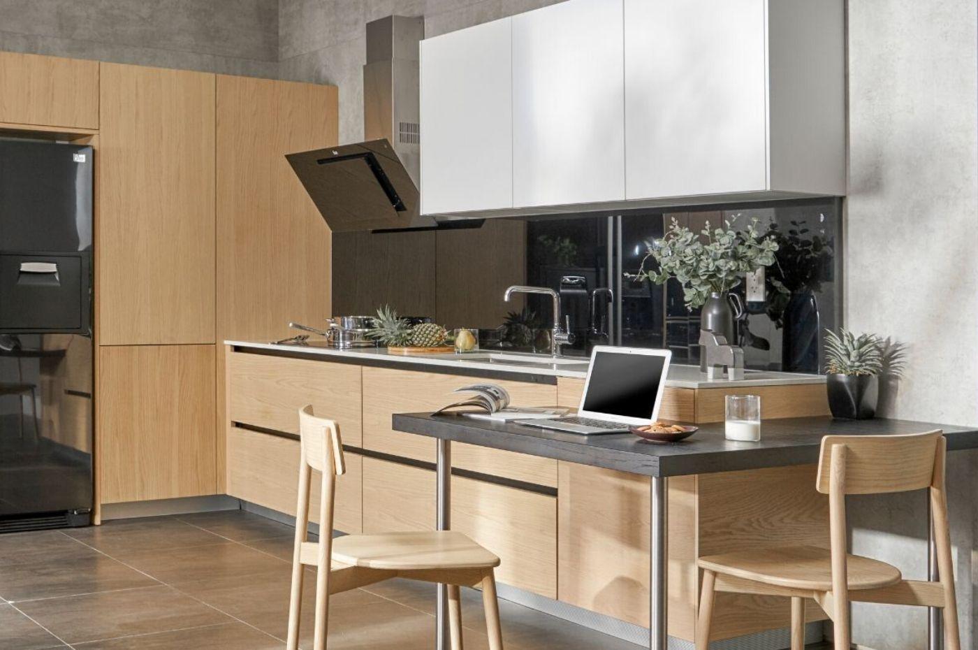 Những mẫu tủ bếp gỗ sồi trắng đẹp-4