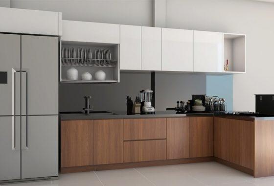 Có nhiều chất liệu kết hợp cho mẫu tủ bếp hiện đại lẫn cổ điển, tùy vào tài chính gia đình mà lựa chọn thích hợp.