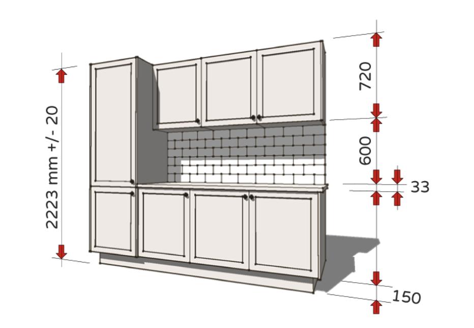 Xác định kích thước bàn bếp cần đảm bảo tính chính xác
