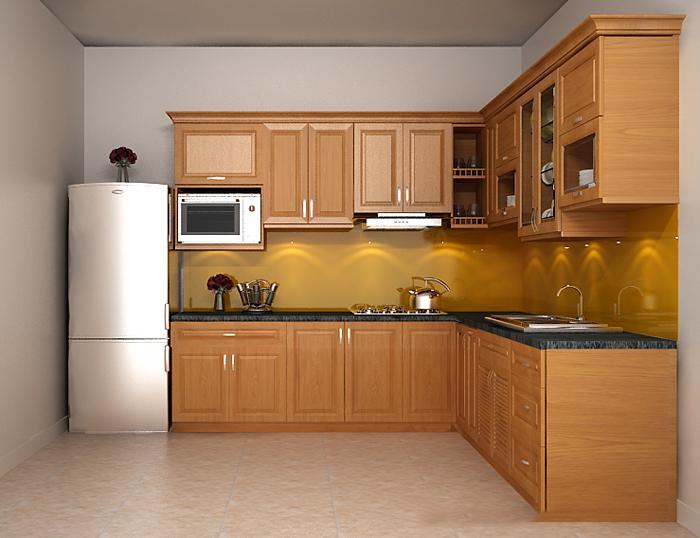 Kệ bếp gỗ trở thành xu hướng hiện đại được nhiều người lựa chọn