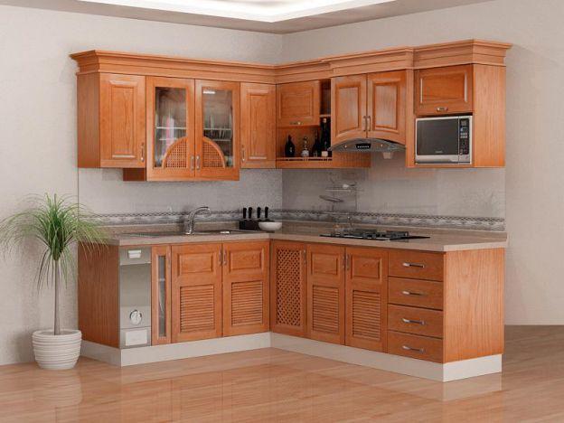 Tủ bếp gỗ tự nhiên trở thành xu hướng